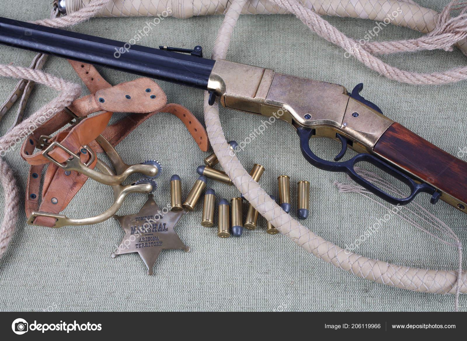 0dc98cc1e Divoký Západ Zbraně Střelivo Šerifa Odznak Pozadí — Stock Fotografie ...
