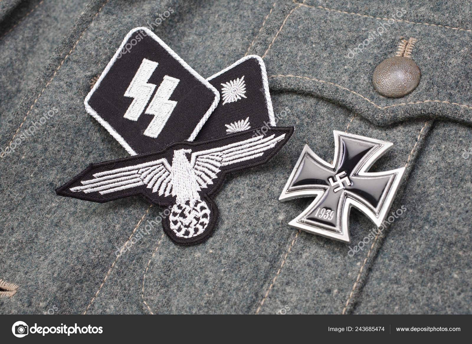 Ww2 German Waffen Military Insignia — Stock Photo © zim90 #243685474