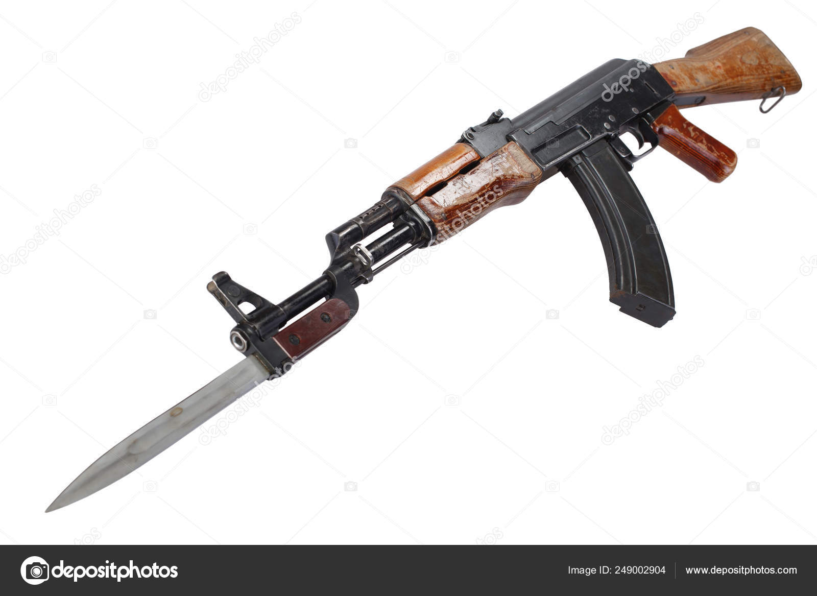 First model AK - 47 assault rifle with bayonet — Stock Photo