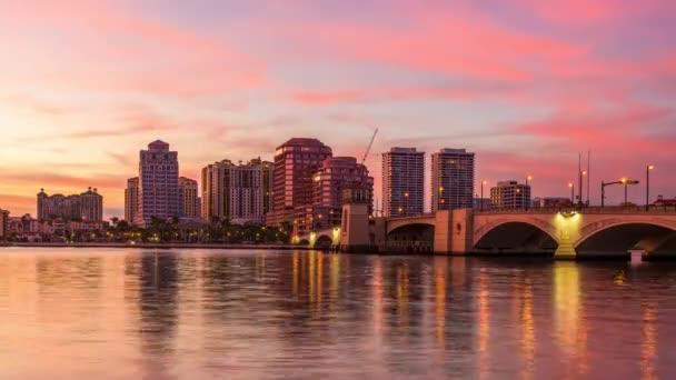 Panorama města West Palm Beach, Florida, Usa
