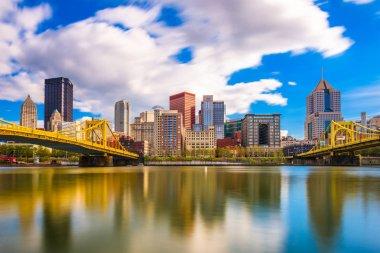 Pittsburgh, Pennsylvania, USA skyline on the Allegheny River.