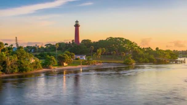 Jupiter, Florida, Usa na Jupiter vstupního světla mění se