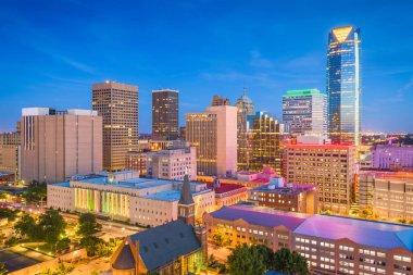 Oklahoma City, Oklahoma, USA downtown skyline at twilight.