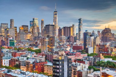 New York, New York, USA downtown city skyline