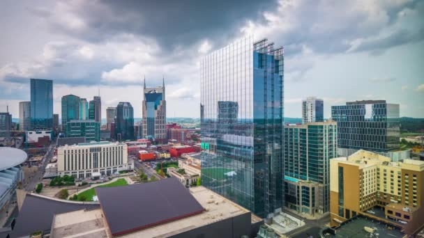 Nashville, Tennessee, USA downtown cityscape rooftop view in the afternoon.