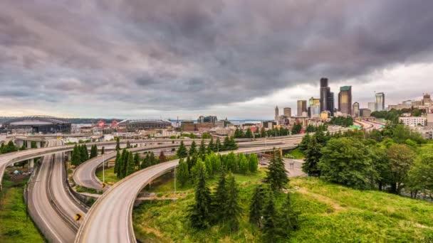 Seattle, Washington, Usa skyline della città sul crepuscolo.