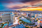Las Vegas, Nevada, Usa Skyline v Soumraku