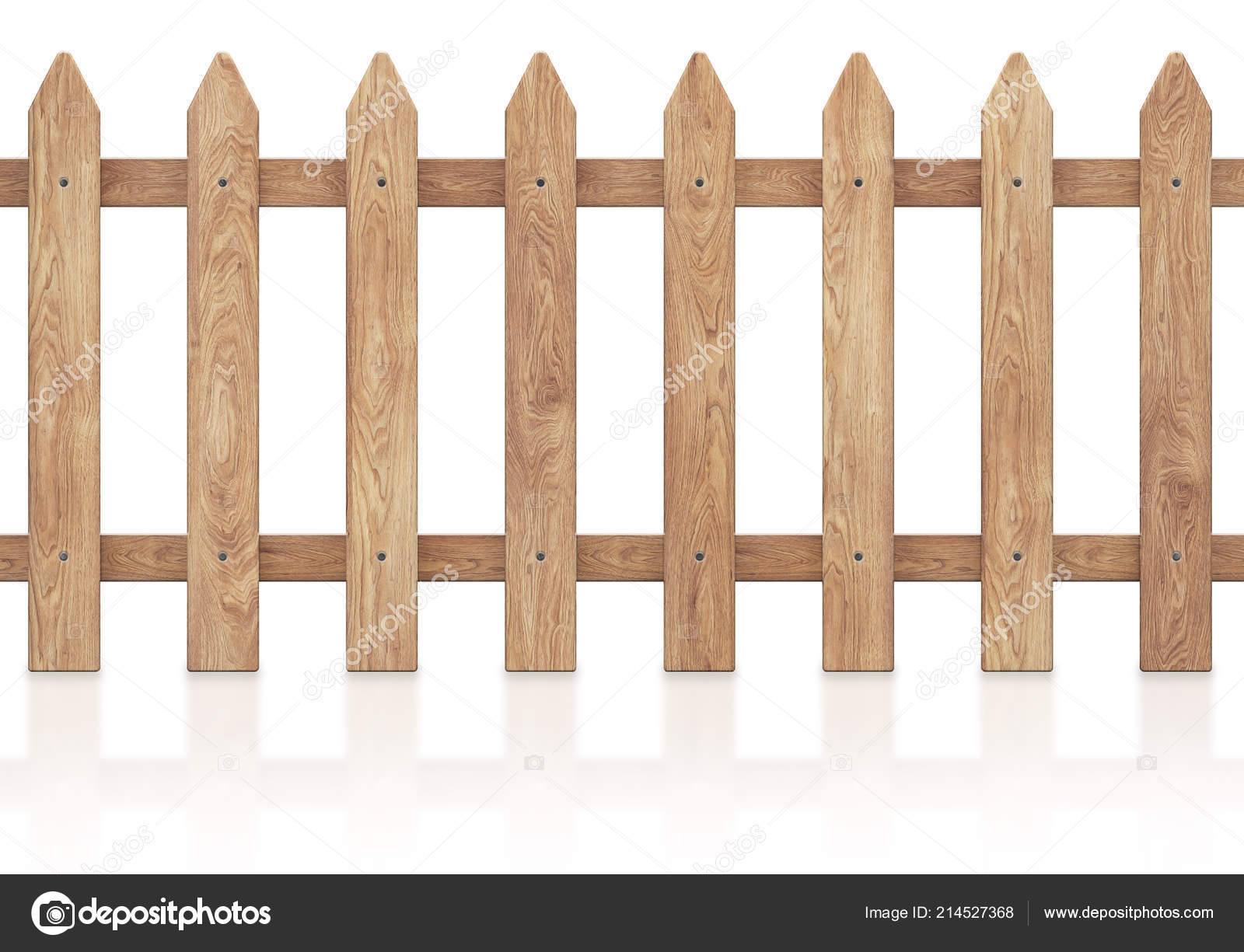 Cloture En Bois Blanc wooden fence isolated white background clipping path