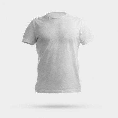 White shirt over white background stock vector