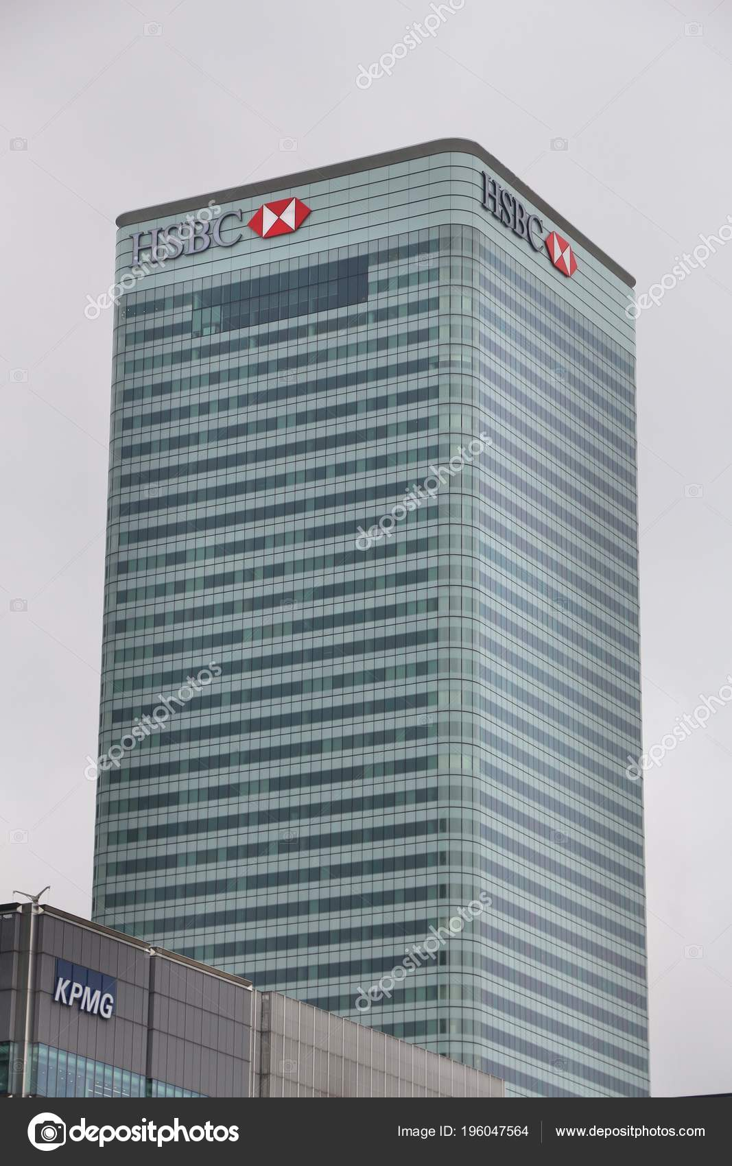 London July 2016 Hsbc Tower Canada Square Canary Wharf
