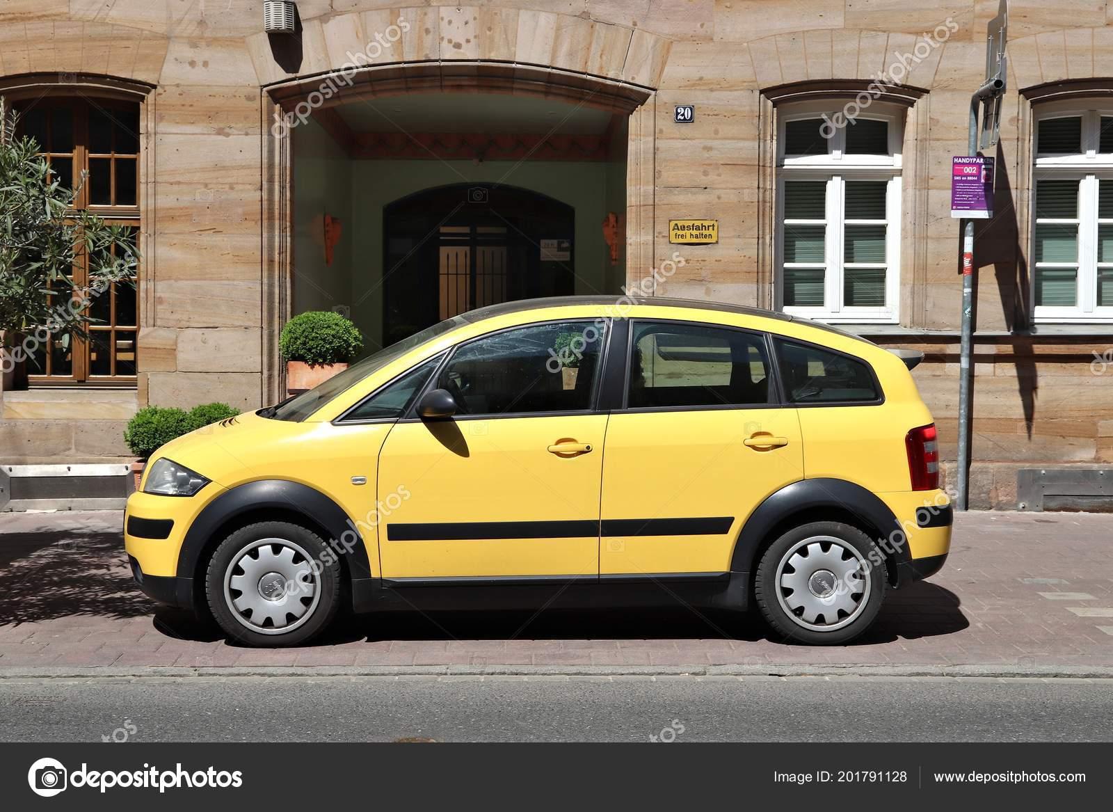 Furth Germany May 2018 Yellow Audi Compact Mini Car Parked Stock