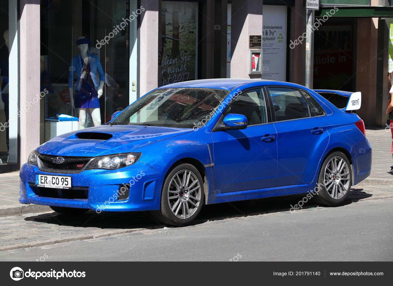 Nuremberg Germany May 2018 Blue Subaru Impreza Wrx Sti Sports