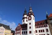 Fotografie Chemnitz city in Germany (State of Saxony). Neumarkt square - Old City Hall.