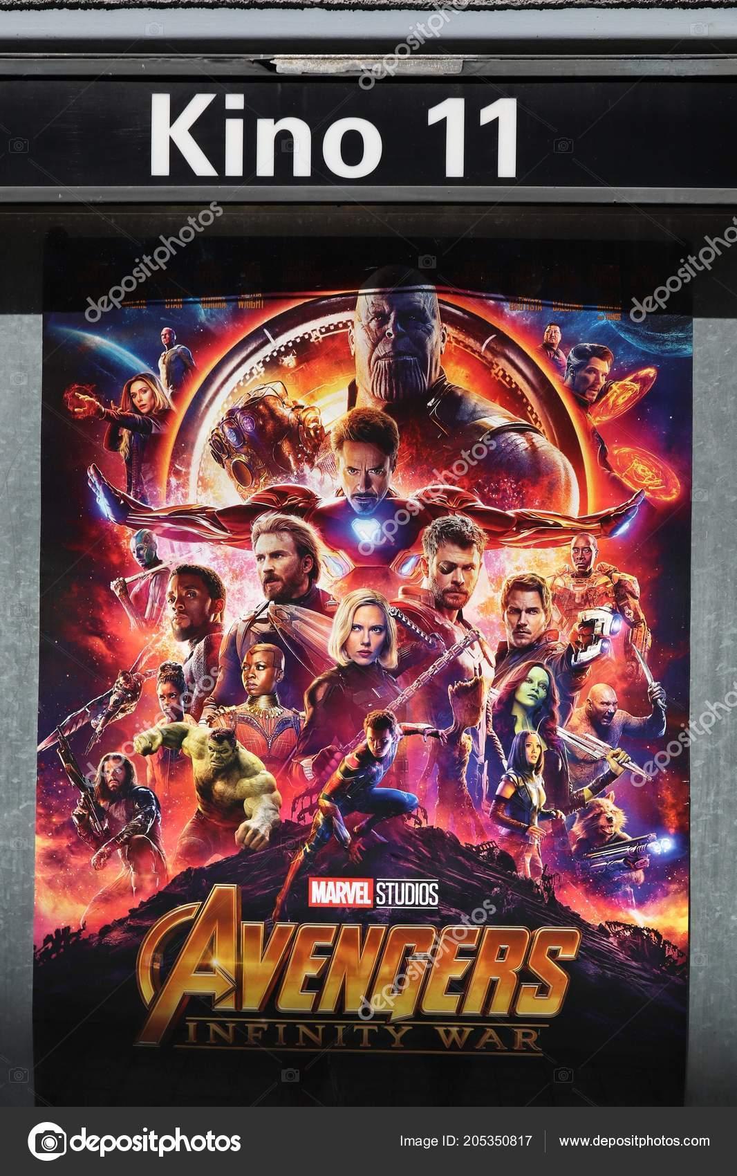 Norimberk Německo Května 2018 Filmové Plakáty Pro Avengers