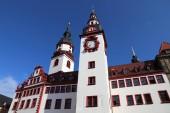 Fotografie Chemnitz, Germany (State of Saxony). Neumarkt square - Old City Hall.