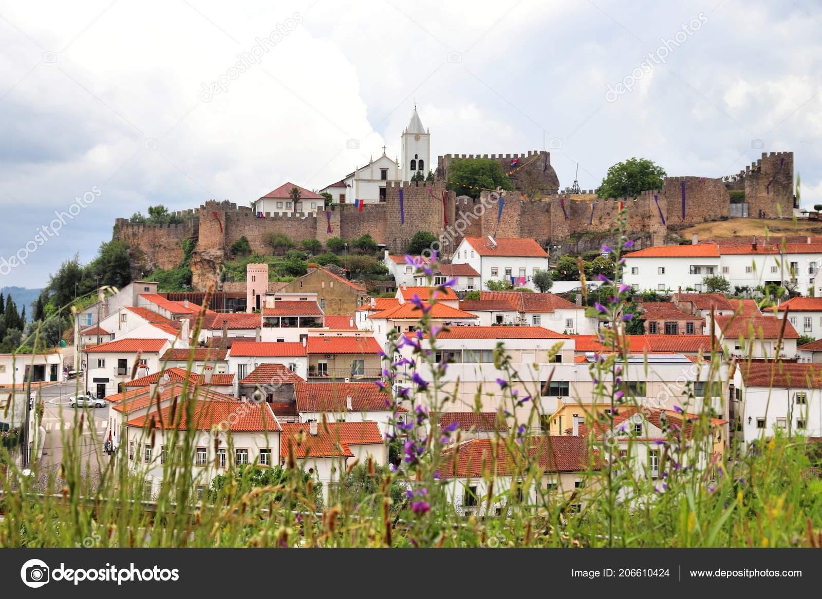 Penela Portugal Cidade Com Castelo Medieval Colina — Stock