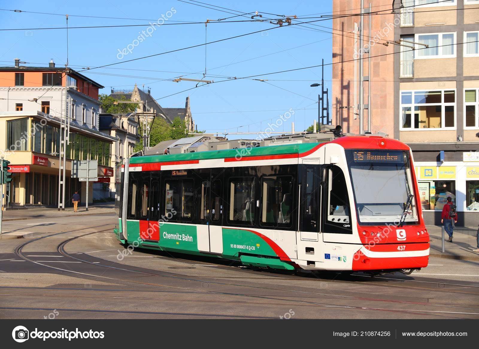 Chemnitz Germany May 2018 City Bahn Chemnitz Cbc Electric Tram
