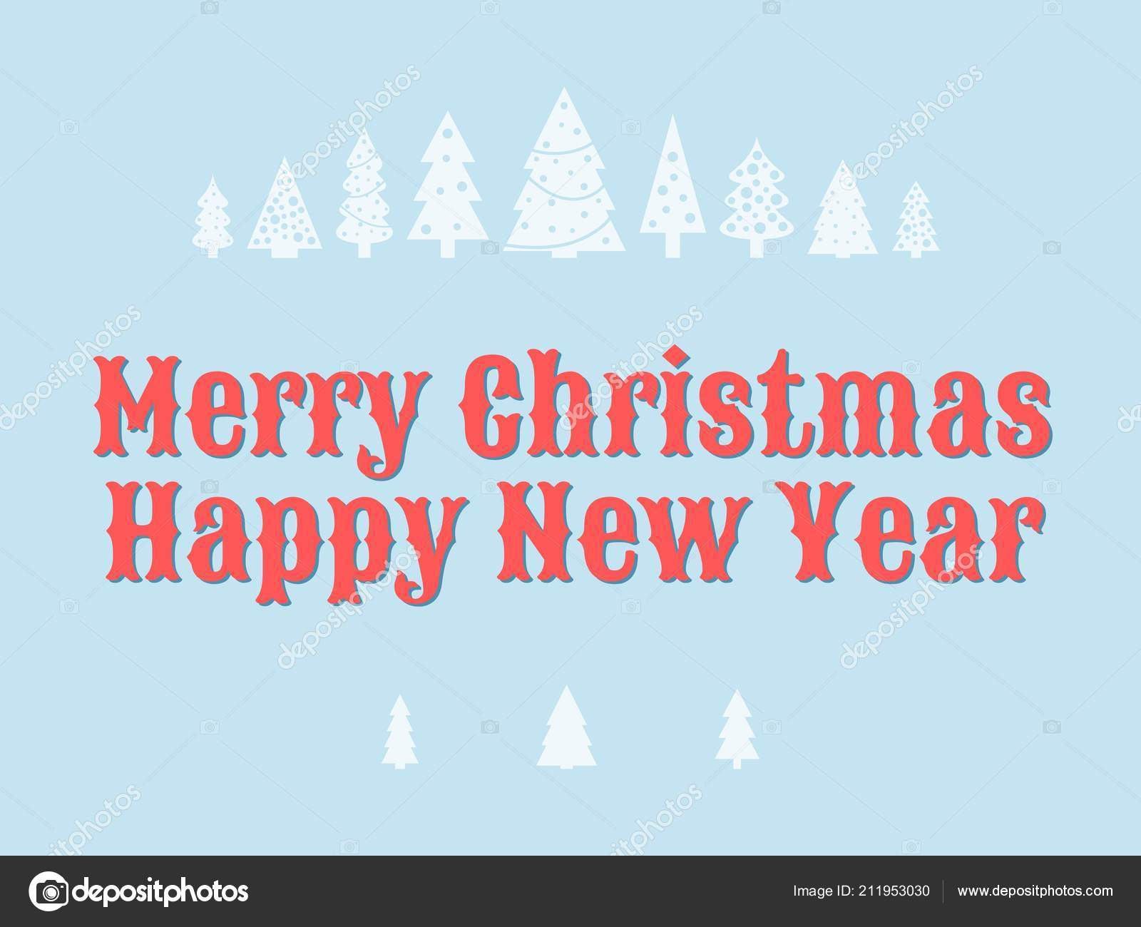merry christmas happy new year wishes greeting card template stock vector