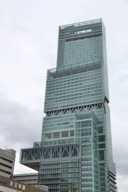 OSAKA, JAPAN - NOVEMBER 23, 2016: Abeno Harukas skyscraper in Osaka, Japan. At 300m it is the tallest building in Japan (as of 2016).