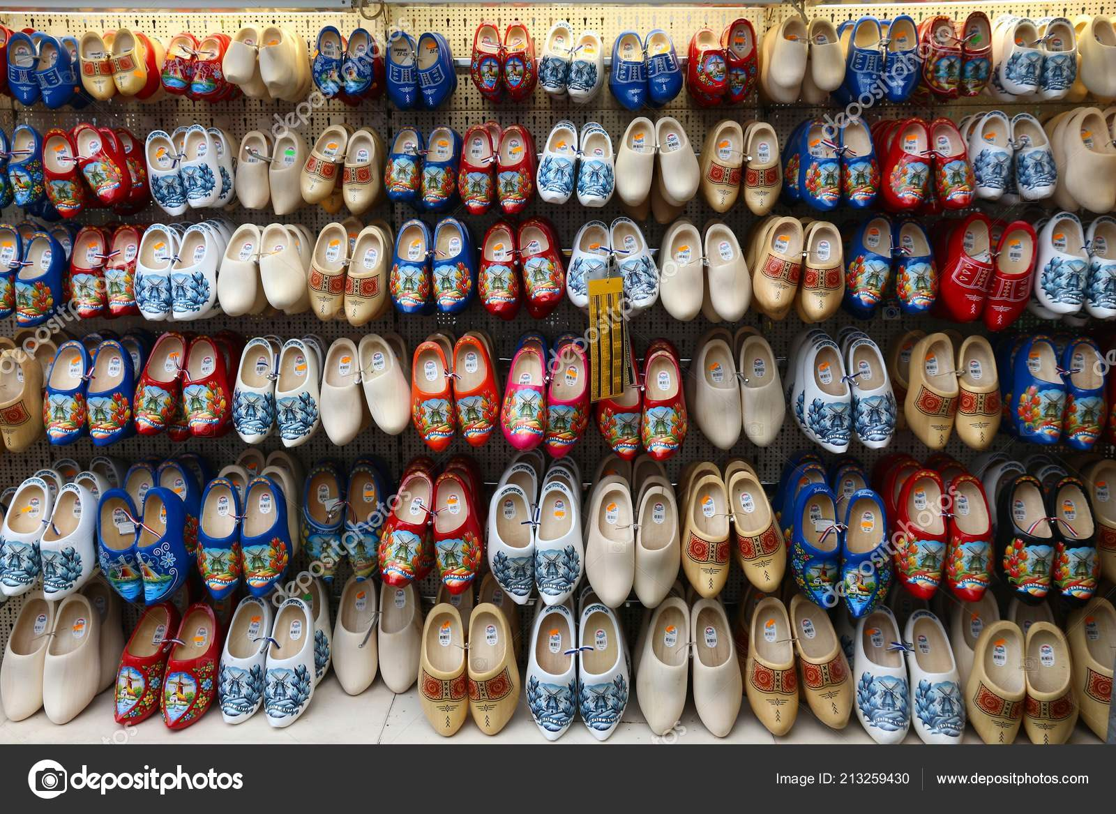 Amsterdam Netherlands July 2017 Dutch Wooden Shoes Known Clogs Gift