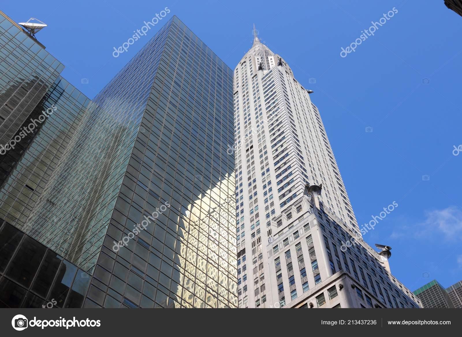 new york usa july 2013 chrysler building new york famous stock