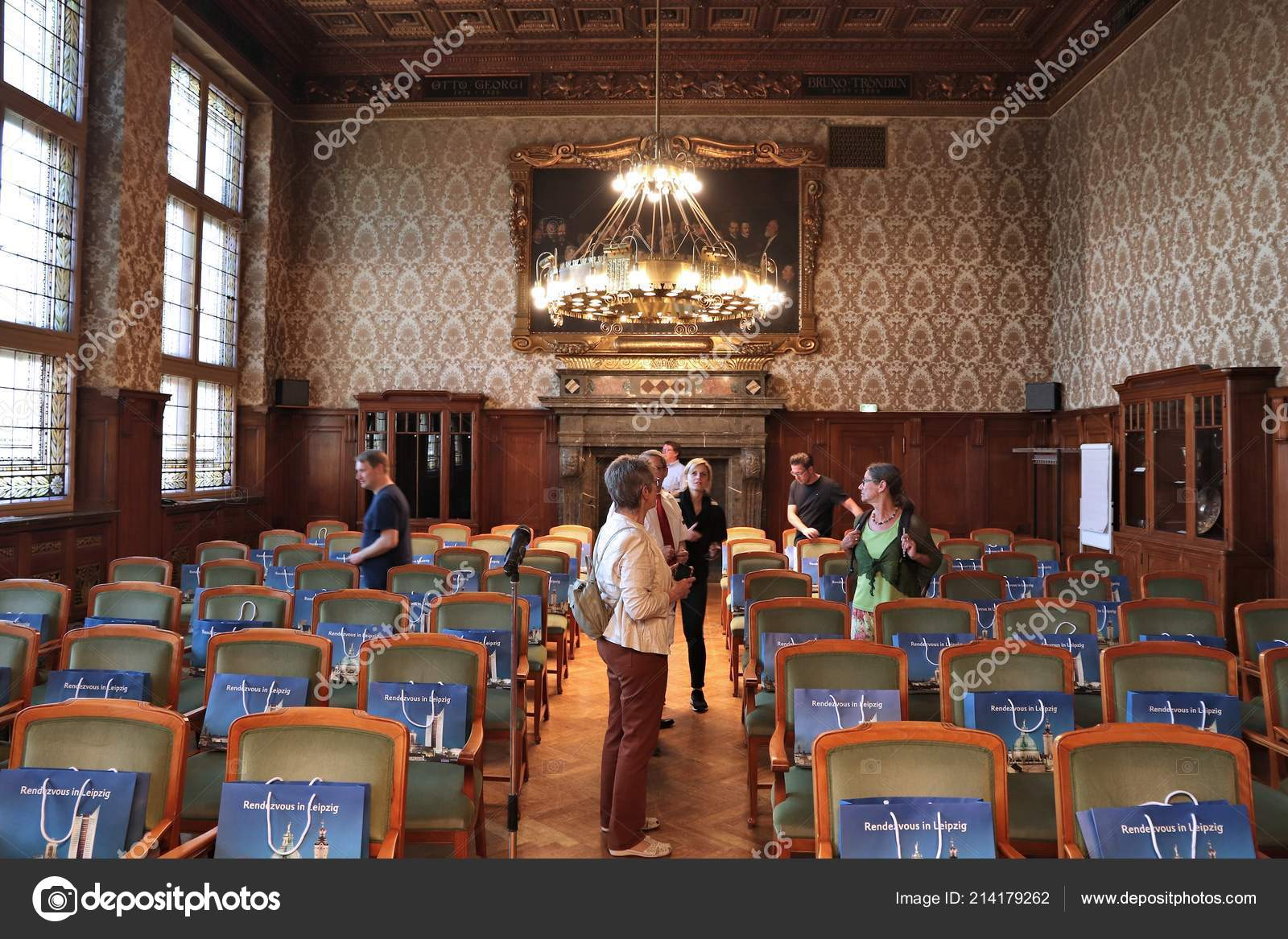 Leipzig Germany May 2018 People Visit New Town Hall Neues Stock Editorial Photo C Tupungato 214179262
