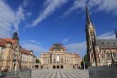 Fotografie Stadt Chemnitz in Deutschland (Freistaat Sachsen). Theaterplatz - Theaterplatz