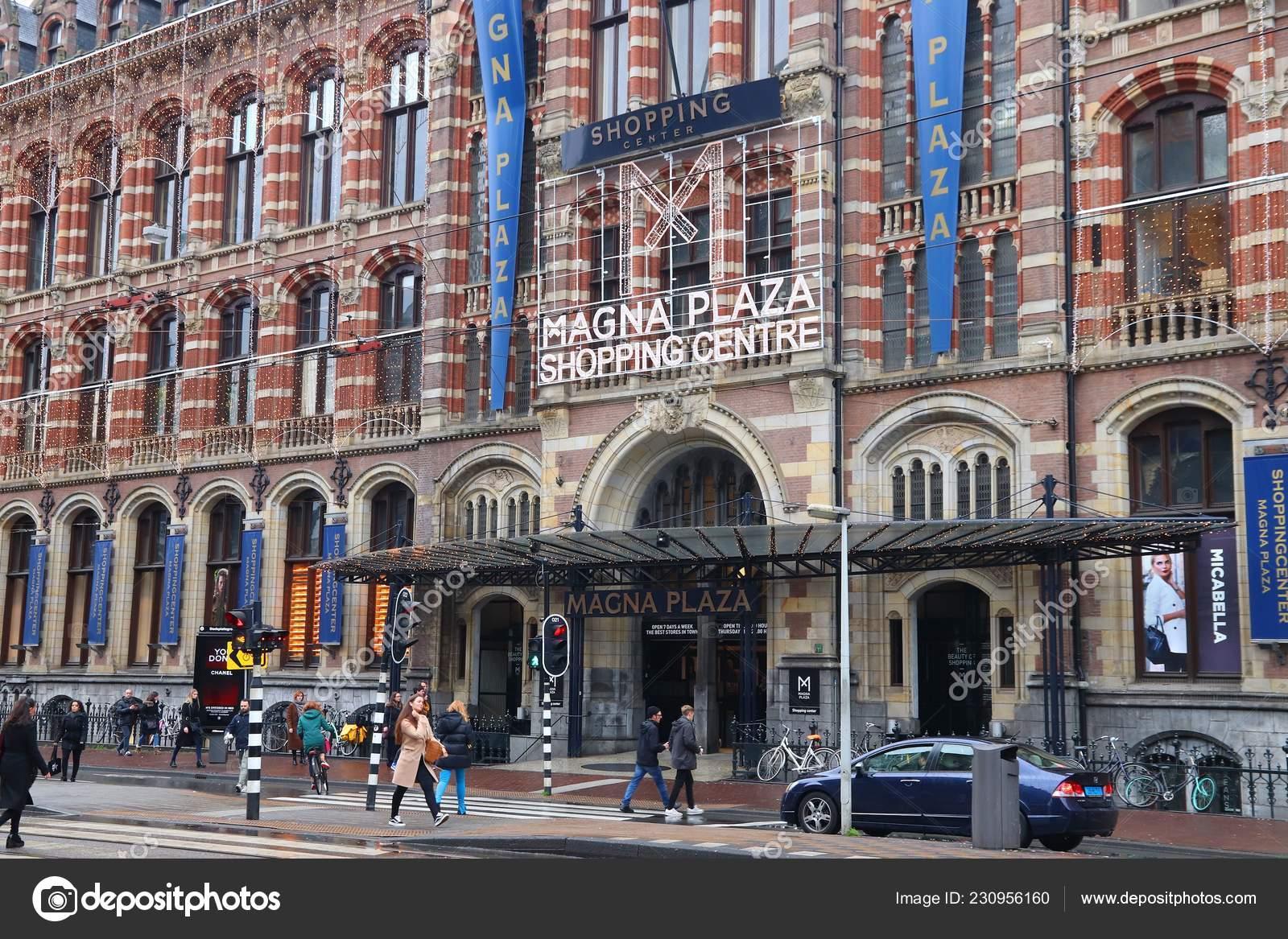 Amsterdam Netherlands December 2017 Magna Plaza Old Shopping
