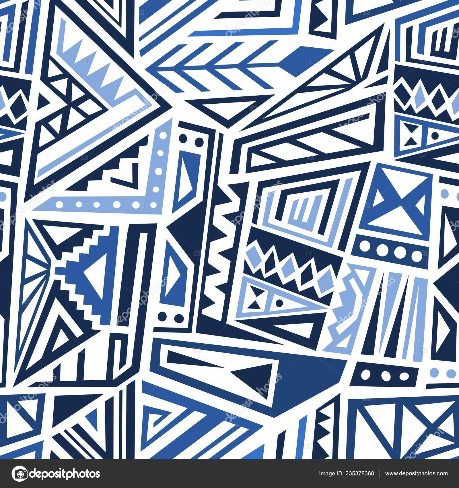 Vector Patrón Boho Diseño Tela Moda Estilo étnico Azulejo