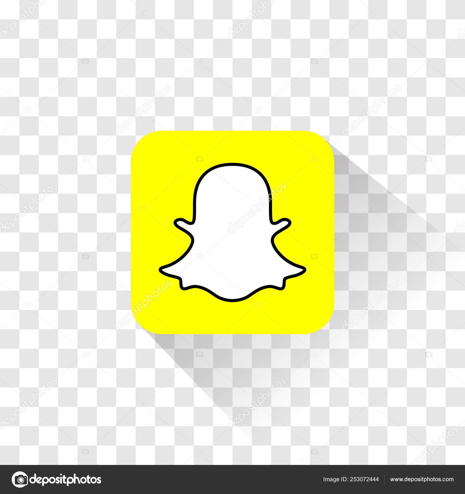 Isolated Snapchat logo  Vector illustration  Snapchat icon