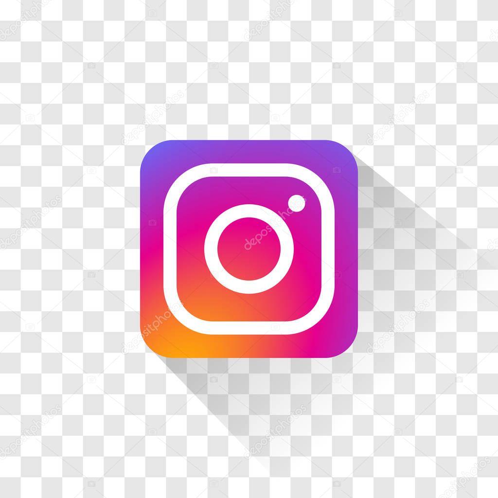Logotipo de Instagram aislado. Ilustración de vector ...