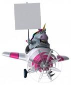 vtipné kreslené postavičky v rovině - 3d obrázek