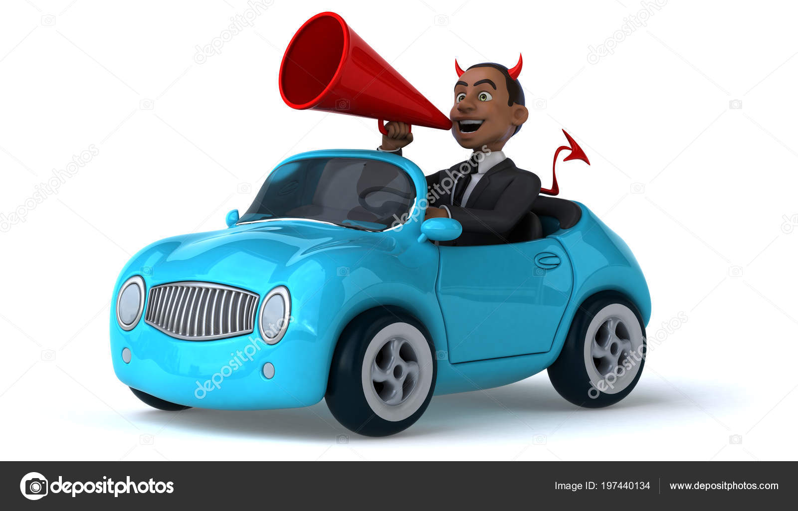 Funny Cartoon Character Car Illustration Stock Photo C Julos