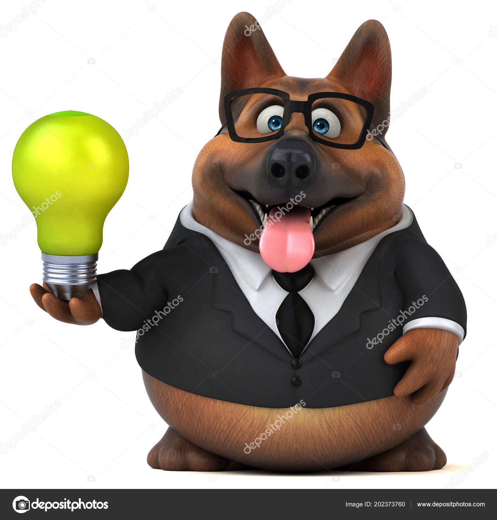 Fun Cartoon Character Light Bulb Illustration Stock Photo C Julos