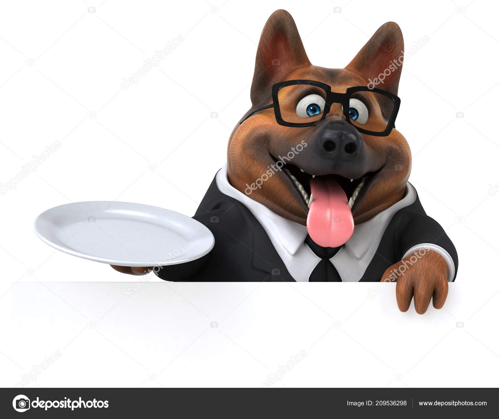 Fun Cartoon Character Plate Illustration Stock Photo C Julos