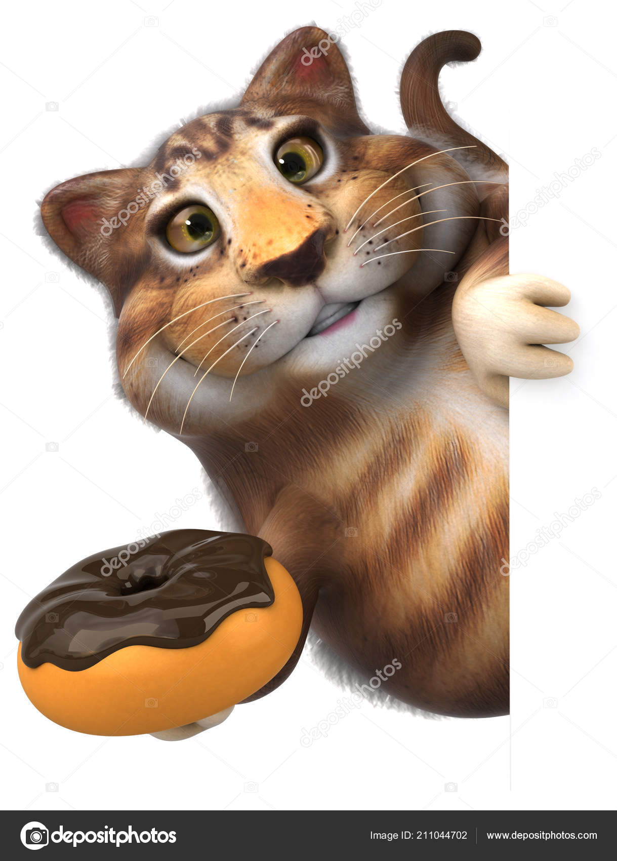 Funny Cartoon Character Avec Donut Illustration Photographie Julos