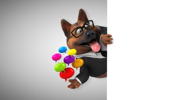 Fun Dog Cartoon Character Bubbles Animation Stock Video C Julos