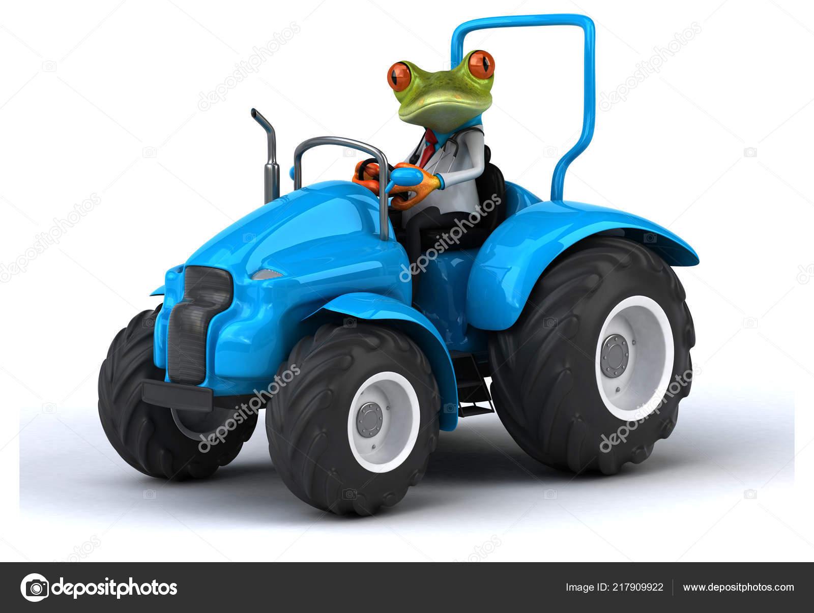 Zabava Kreslene Postavicky Traktoru Obrazek Stock Fotografie