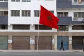 Marocká vlajka mávání