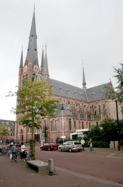 Netherlands, Holland,Dutch,Utrecht,Woerden,june 2016: Exterior of the Bonaventura Church