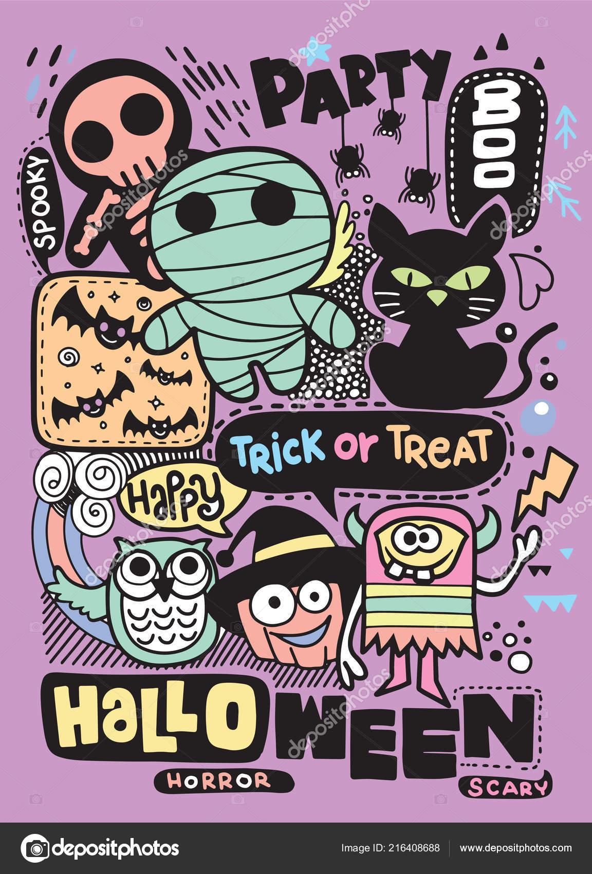Cartão Convite Festa Halloween Abóbora Bonita Fantasmas Crianças