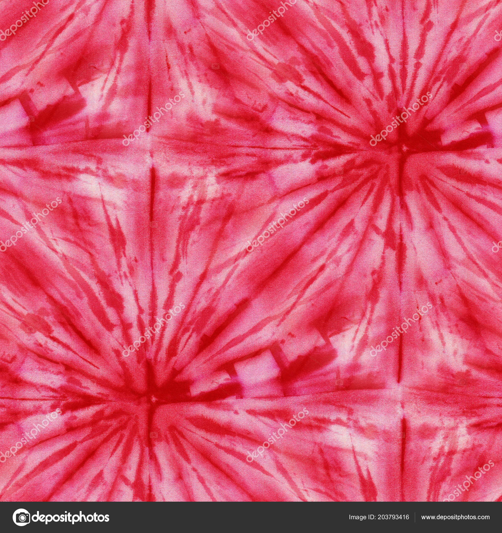 cc988e61db1c Seamless Tie Dye Pattern Red Color White Silk Hand Painting — Stock Photo