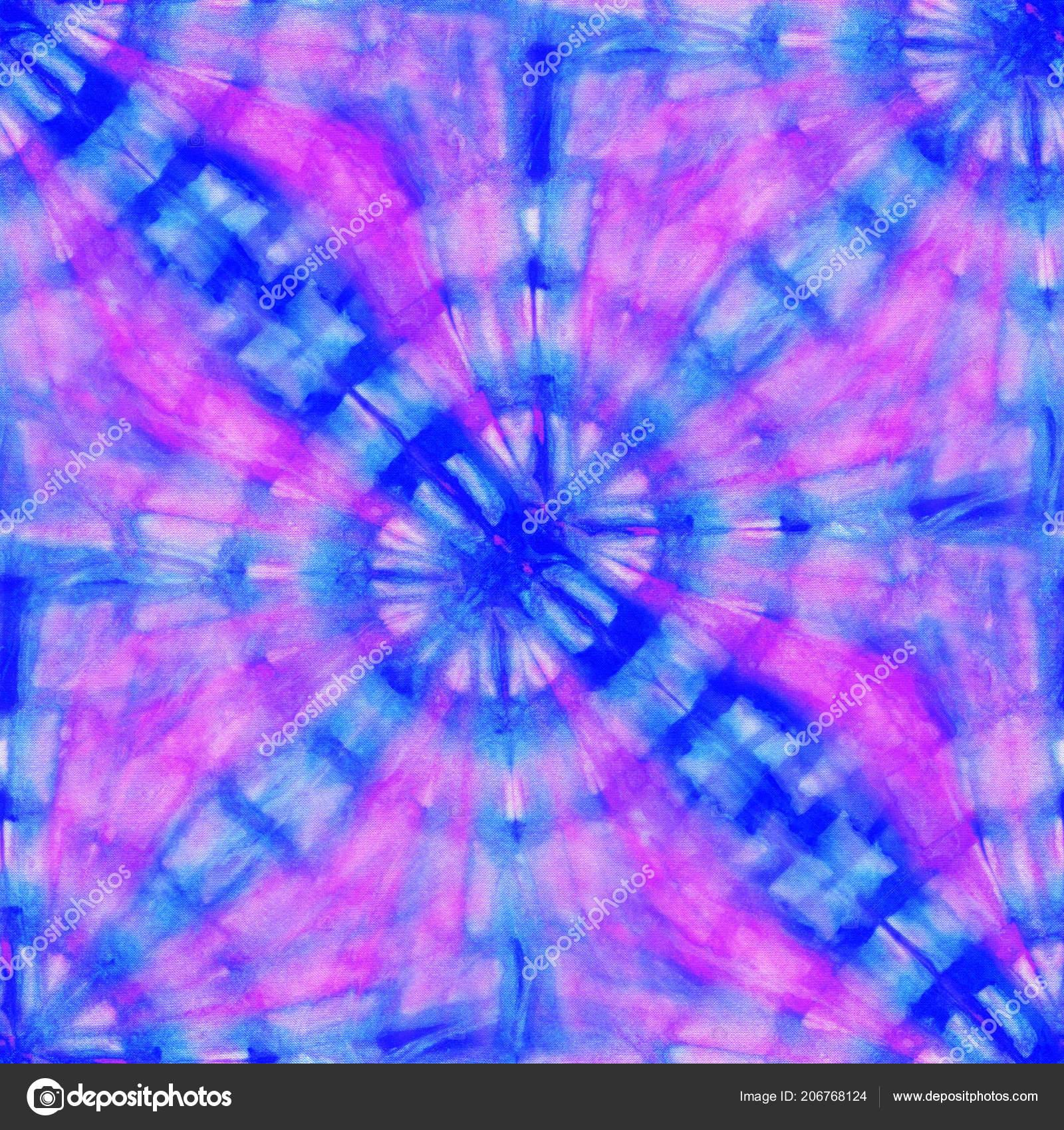 ea4930a1fa0b Seamless tie-dye pattern of blue and pink color on white silk. Hand painting  fabrics - nodular batik. Shibori dyeing. — Photo by tiff20