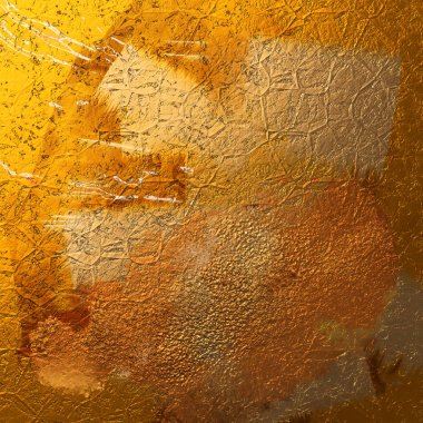 Abstract gold background with old texture. Hand-drawn illustration.