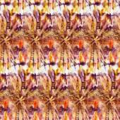 Többszínű problémamentes tie-dye mintával fehér selyem. Kézi festés szövet - nodularis batikolt. Shibori festése.