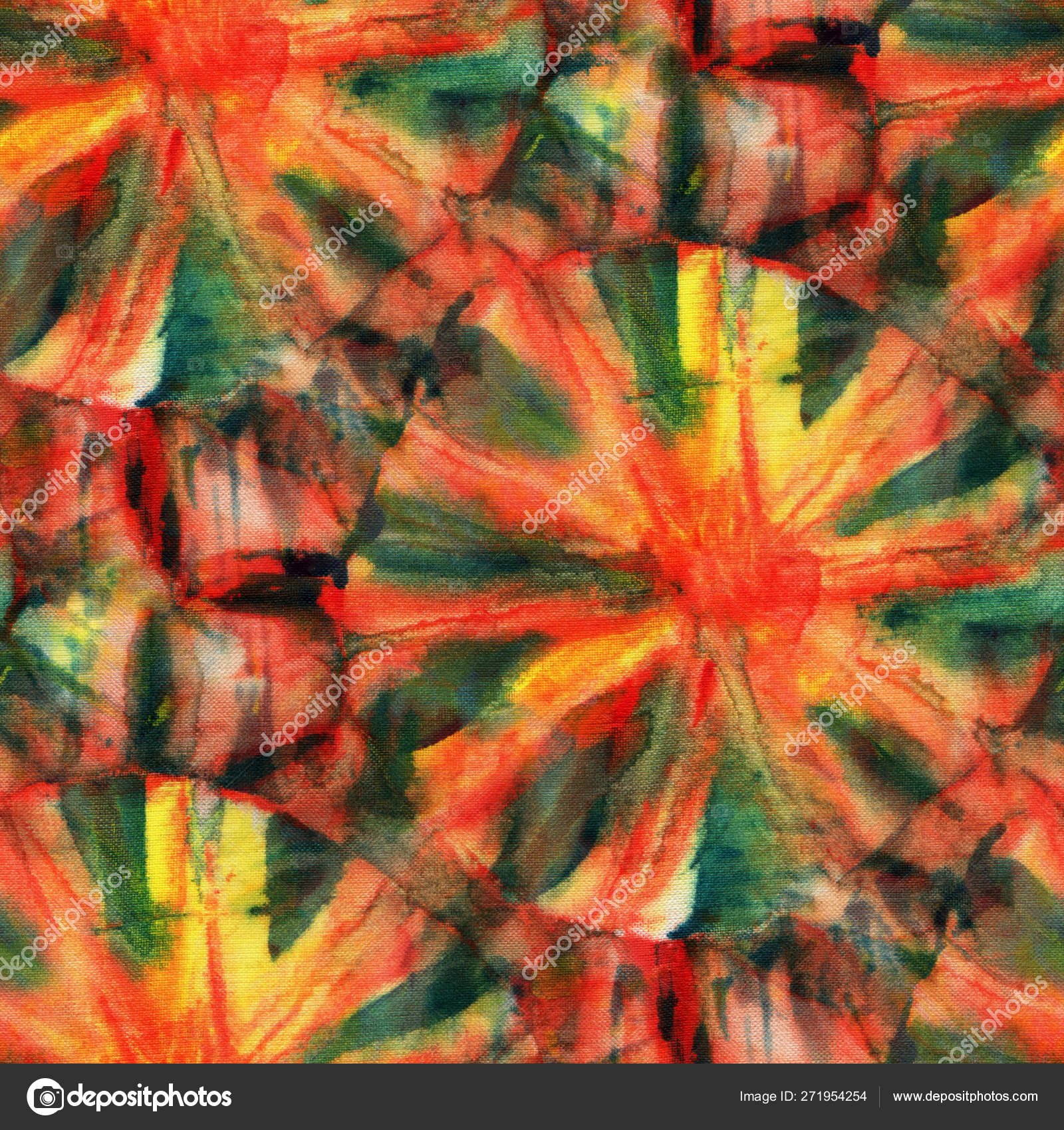7231f5452458 Seamless tie-dye pattern of red and green color on white silk. Hand  painting fabrics - nodular batik. Shibori dyeing.