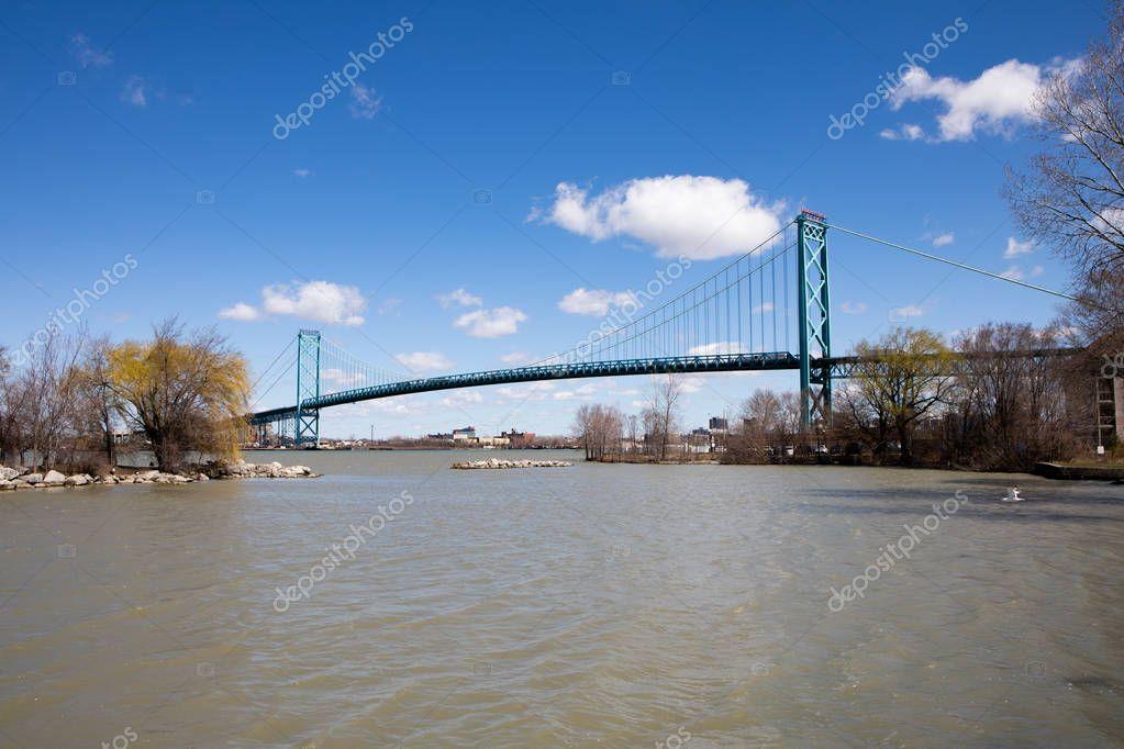 April 15 2019 Windsor Ontario Canda City Landscape McKee Park Cloudy Day