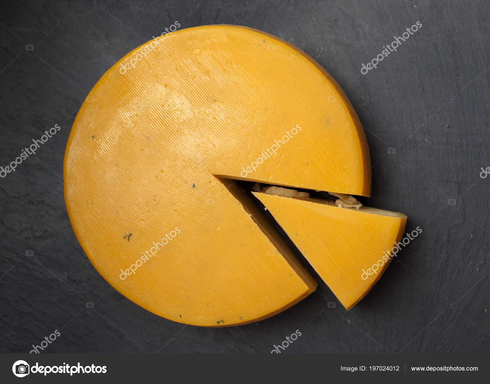 Full Wheel Semi Hard Cheese Azores Portugal — Stock Photo © Tamara_k