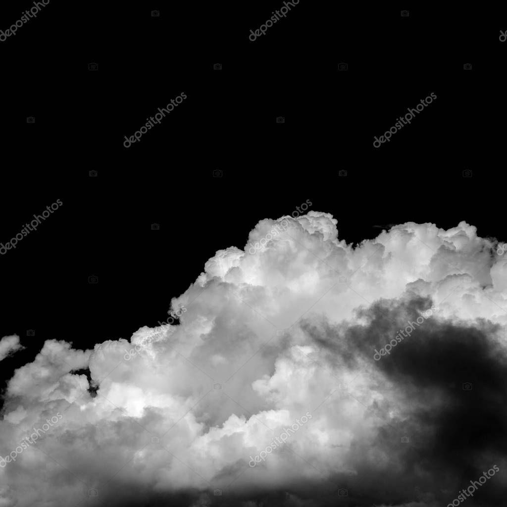 natural cumulus clouds backgroud with towering cumulus , monochrome version