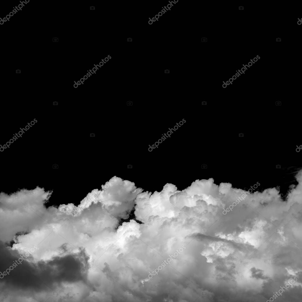natural cumulus clouds backgroud with towering cumulus, monochrome